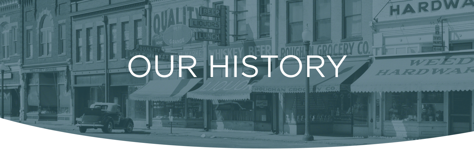 our history header